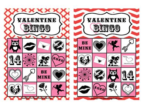 valentine bingo free printable the crafting chicks