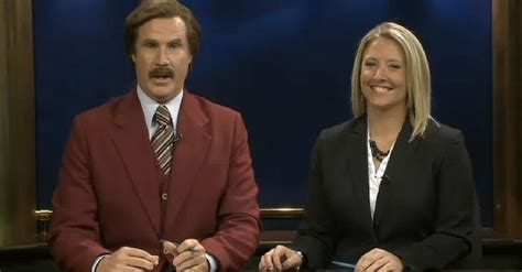stay classy north dakota ron burgundy joins local news show video