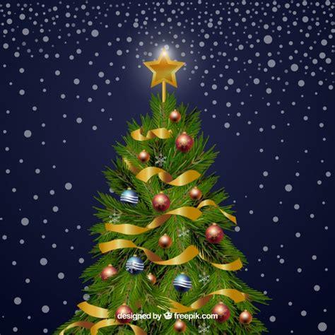 193 rbol de navidad decorado con adornos descargar vectores