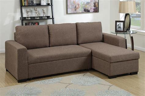 Brown Fabric Sectional Sofa Poundex Samo F6932 Brown Fabric Sectional Sofa Bed A Sofa Furniture Outlet Los Angeles Ca