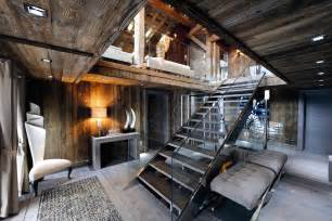 rustic interiors chic modern rustic chalet in the rh 244 ne alpes idesignarch