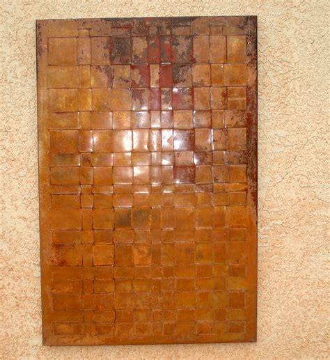copper wall woven copper wall art mike dumas copper designs blog