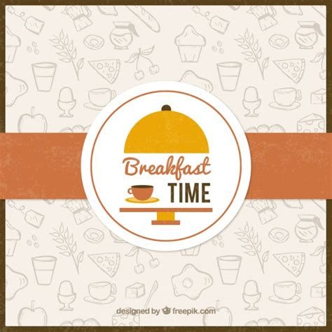 breakfast background sketches food for breakfast background vector free
