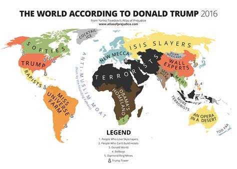 World map according to donald trump 2016 driving directions and maps