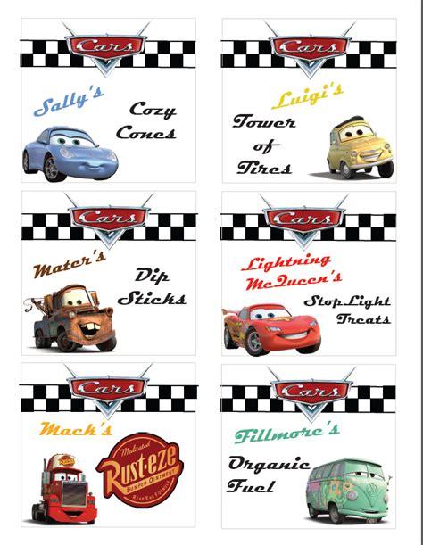 Disney Cars Printable Birthday Decorations | disney cars party ideas free printable disneyside