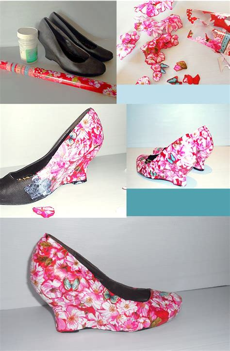decoupage on shoes floral shoes diy d 201 coupage shoes fashion