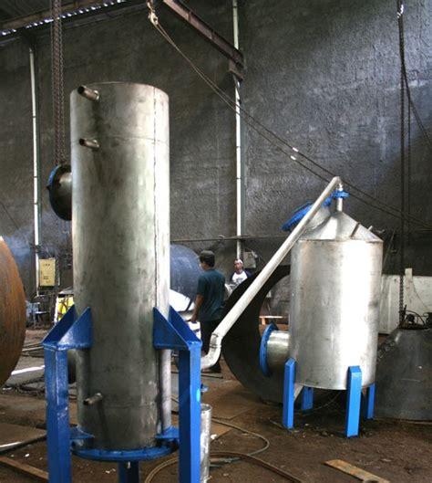 Kompor Gas Rays kelapa terpadu peralatan pengolahan tempurung kelapa