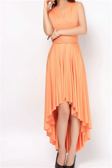 light orange bridesmaid dresses light orange high low infinity dress bridesmaids dresses