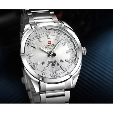 Jam Tangan Pria Navi navi jam tangan analog pria 9038 silver