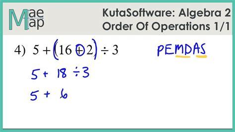 Algebra 1 Order Of Operations Worksheet by Algebra Order Of Operations Algebra 1 Simplifying