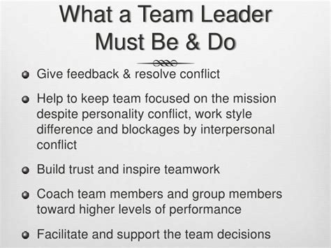 anatomy of a successful developer team lead what makes a good