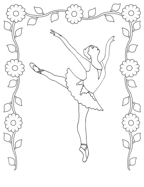 Coloring Page by Free Printable Ballet Coloring Pages For