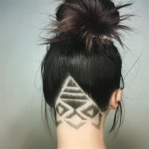 triangle pattern hair undercut triangle designs