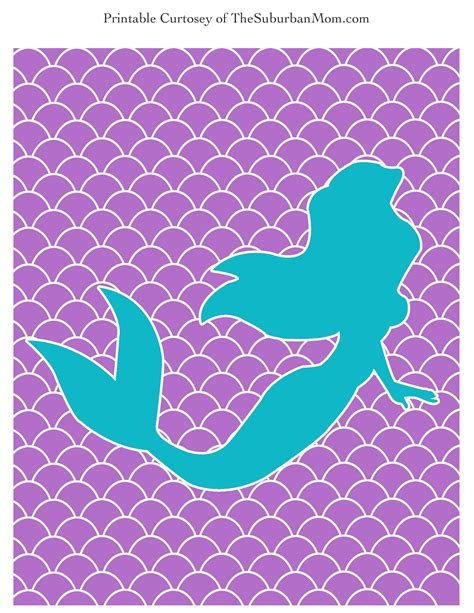 mermaid template the mermaid poster labels free printable