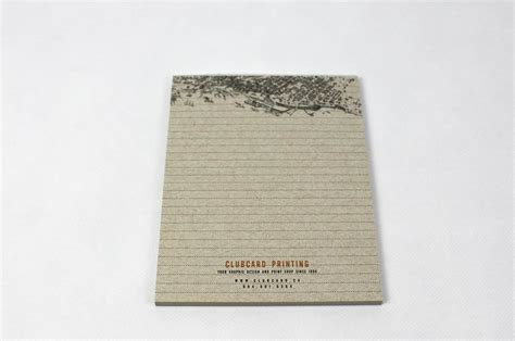 Handmade Notepads - kraft custom notepads are printed on 100 recycled