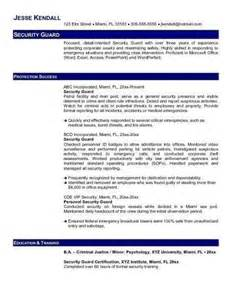 Homeland Security Guard Sle Resume by Excel Security Guard School Security Guards Companies