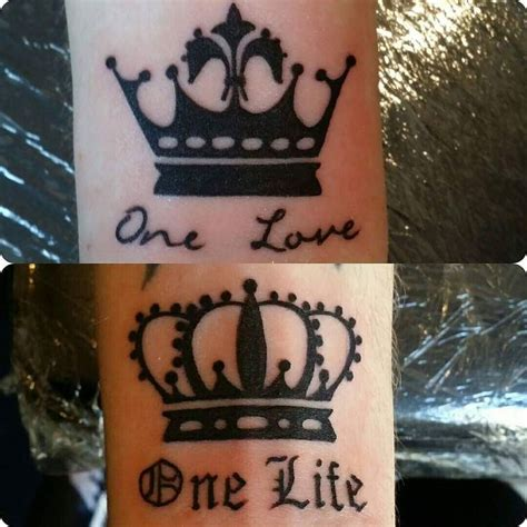 his and hers crown tattoos 41 best images about koi on for