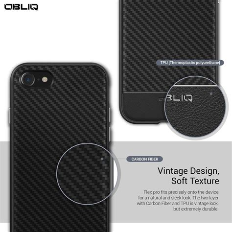 Obliq Iphone Se Flex Pro Carbon husa iphone 7 si 8 originala obliq flex pro carbon