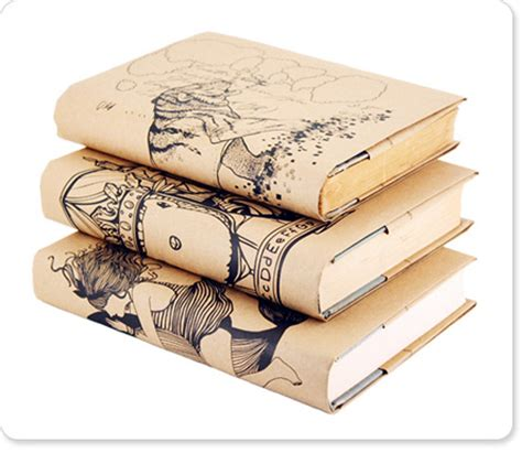 Book Covers Out Of Paper Bags - book city jackets get even more artistic