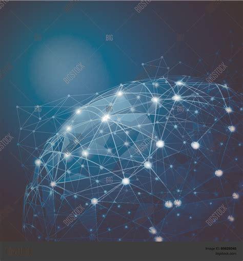 global digital global digital mesh network vector photo bigstock