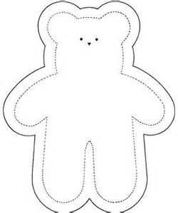teddy sewing template soft teddy sewing pattern