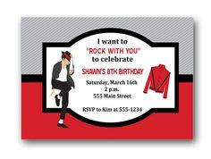 printable birthday invitations michaels 1000 images about michael jackson birthday party ideas on