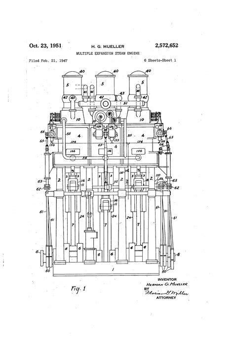 expansion steam engine diagram patent us2572652 expansion steam engine