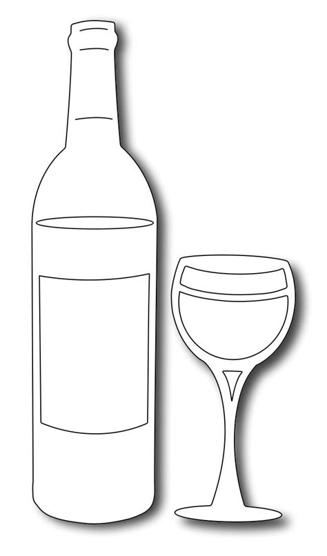 Wine Bottle Card Template by Frantic Ster Precision Dies Wine Bottle And Glass