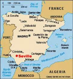 Seville Spain Map by University Of Hartford Study Abroad Notes From The Field
