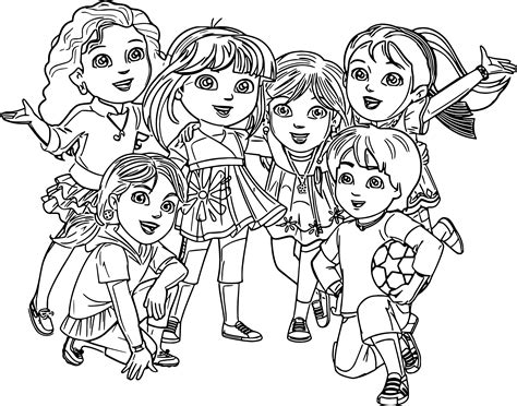 coloring pages of dora and friends friendship coloring pages coloringsuite com