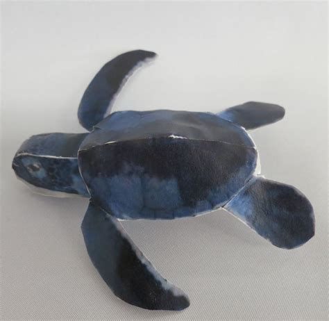 Turtle Papercraft - aoumigame green sea turtle free papercraft papermodeler