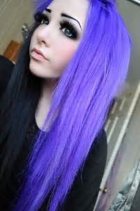 black n purple hair long purple hair with black underneath hair pinterest