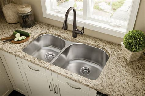 stainless steel sink with bronze faucet cleandus