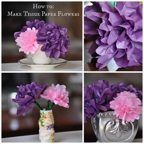 How To Make Flowers Out Of Tissue Paper - craft how to make tissue paper flowers