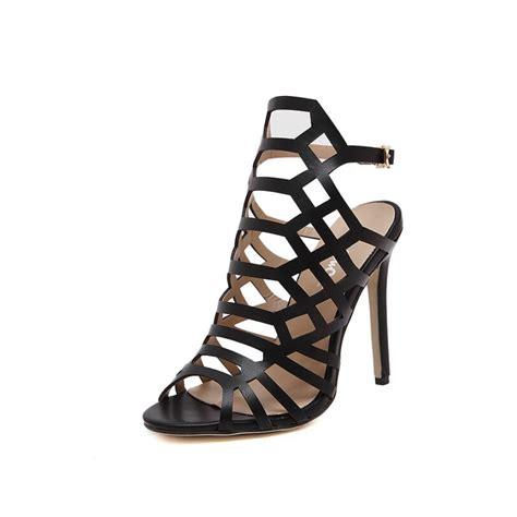 Sandal High Heels Laser black laser cut high heel sandals
