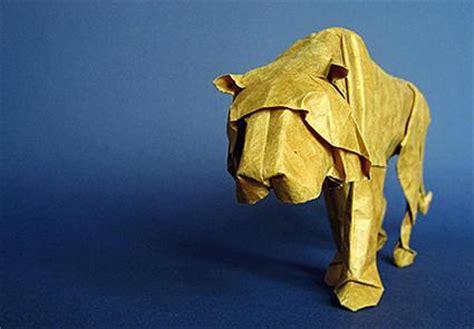 3d Origami Tiger - origami tiger