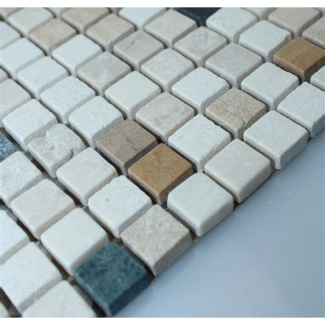 stone mosaic tile square patterns bathroom wall marble