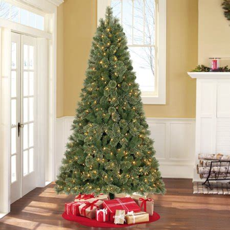 4 12 ft xmas tree at walmart time prelit 7 5 liberty pine artificial tree color changing lights walmart