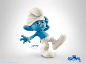 clumsy thesmurf amazing movie character cartoons clumsy smurfs clumsy smurfs tv
