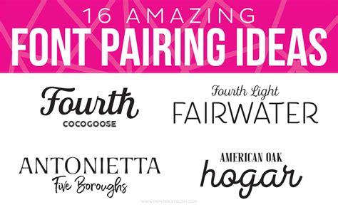 printable instagram font 16 amazing font pairing ideas for designers printable crush