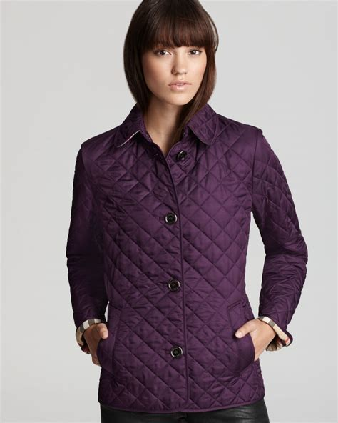 Burberry Brit Jacket Quilted by Burberry Brit Copford Quilted Jacket In Purple Lyst