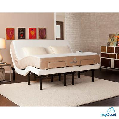 sei mycloud california king size adjustable bed frame with mattress bj s wholesale club