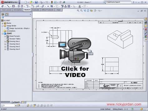 solidworks tutorial title block solidworks video tip 2009 title block custom properties