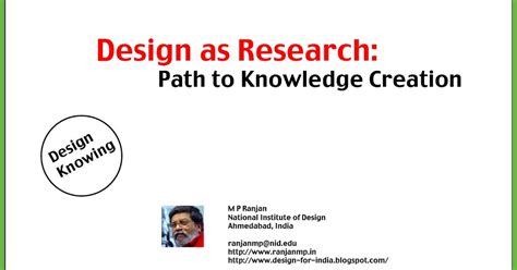 design of experiment knowledge design for india design as research path to knowledge