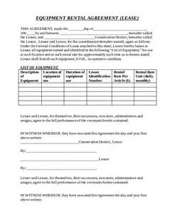 tool rental agreement template 12 equipment rental agreement templates free sle