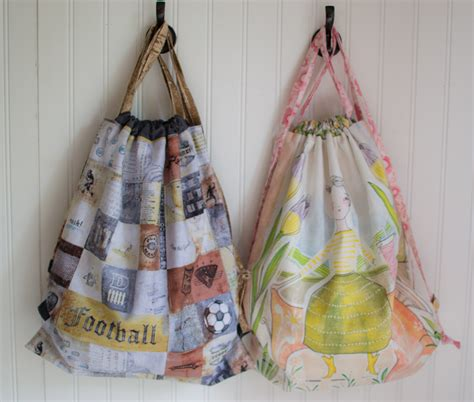 Show Off Saturday: Easy and Fun Drawstring Backpacks