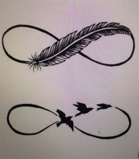 infinity feather tattoo pin by alfimow on wedding bands