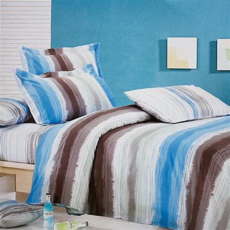 teen boys bedding sets blue brown stripe teen boy bedding king size duvet cover