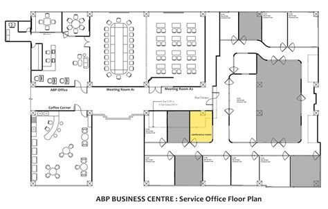 create a floor plan for a business floor plan airport business park
