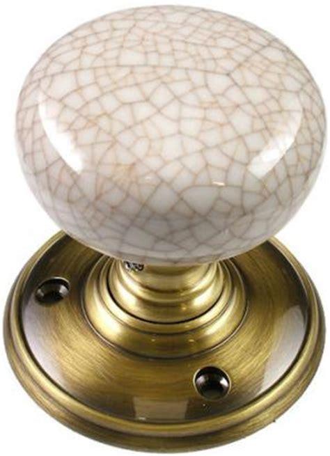 Crackle Glaze Door Knobs by Delamain Ivory Crackle Porcelain Door Knobs World Of Brass